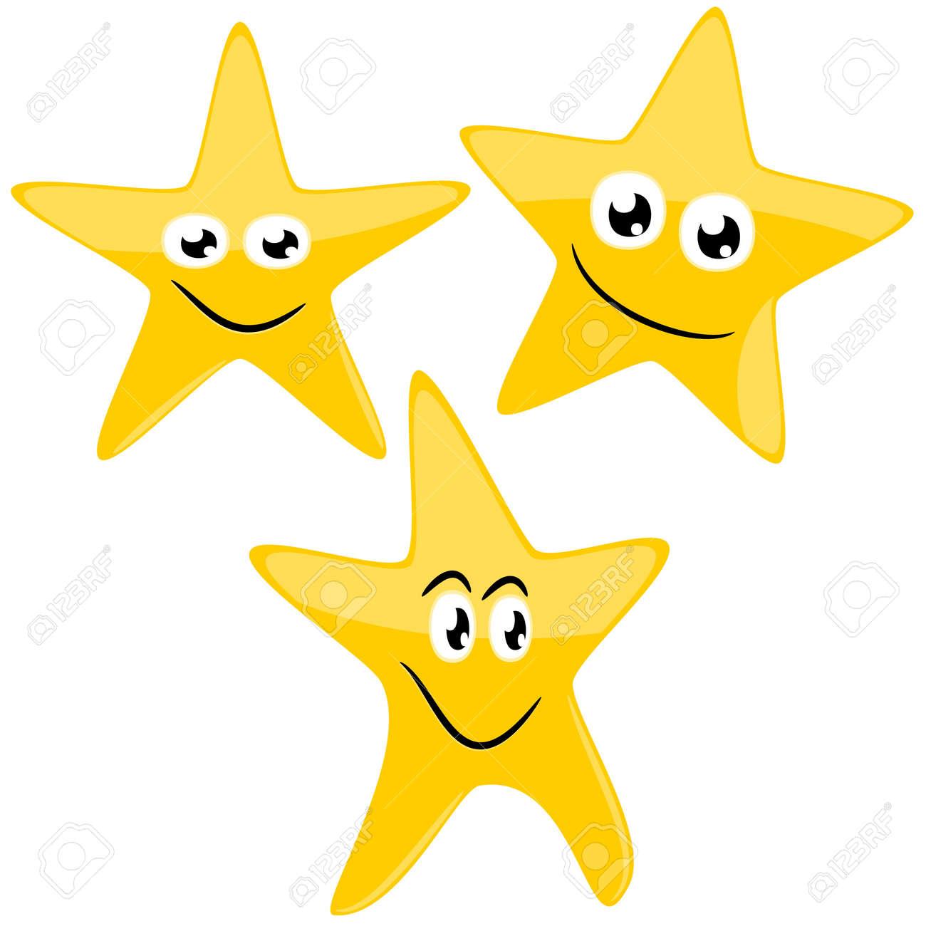 Estrellas Divertidos Ilustración De Dibujos Animados