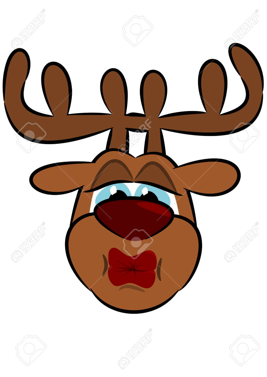 kiss of a reindeer royalty free cliparts vectors and stock