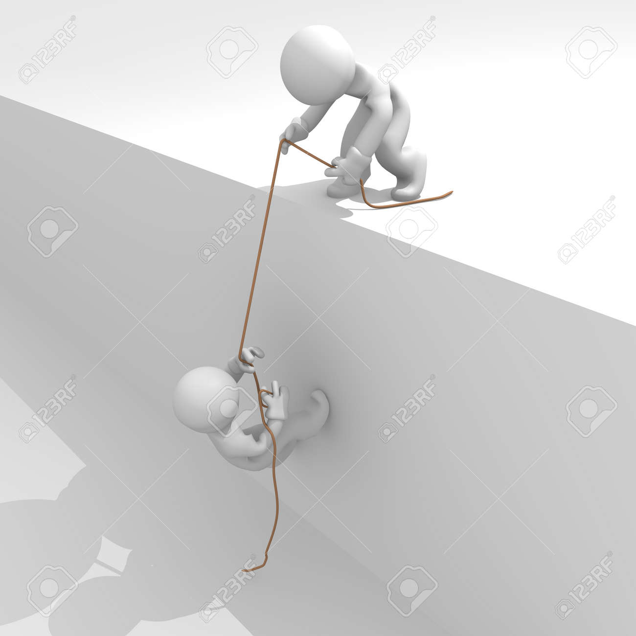 Helping hand, teamwork concept, 3d image Stock Photo - 12927866