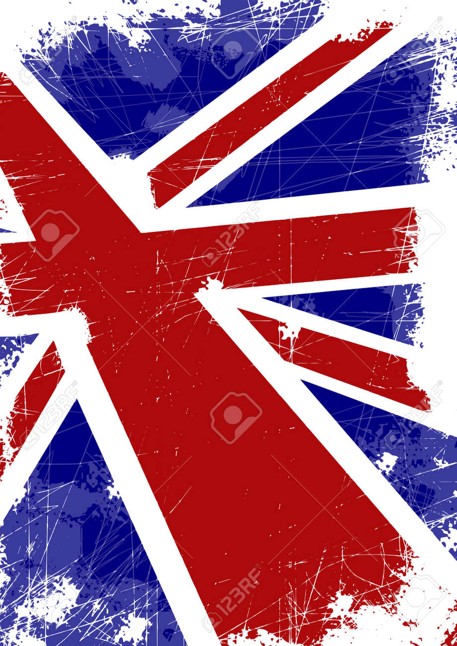 British flag with scratches Stock Vector - 13635248