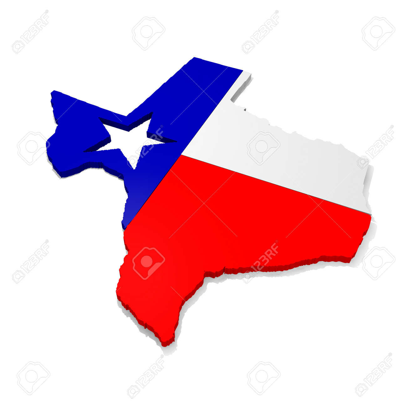 3d Map Of Texas.3d Map Of Texas