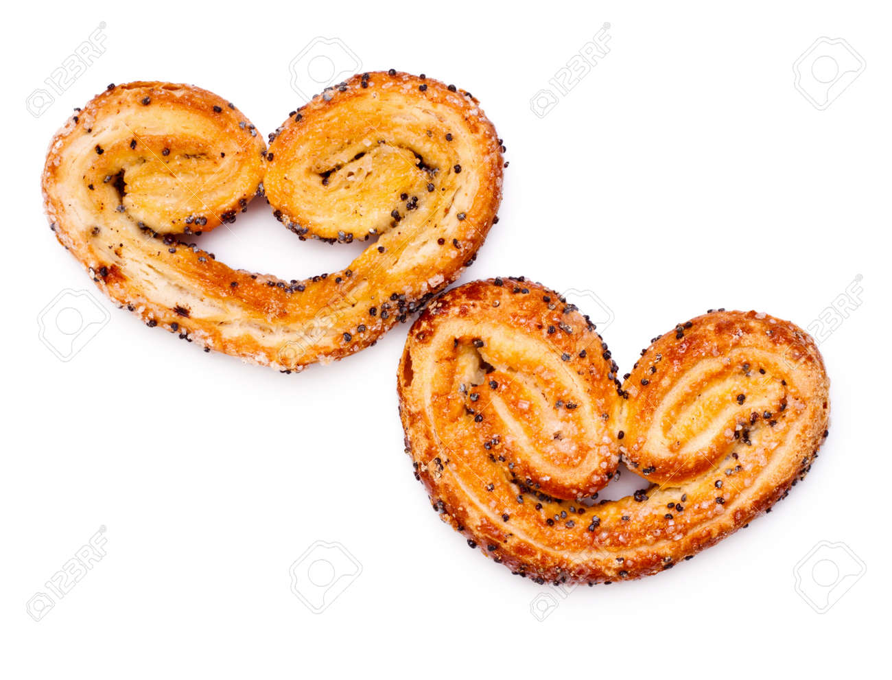 heart shaped cookies isolated on white background Stock Photo - 8698581