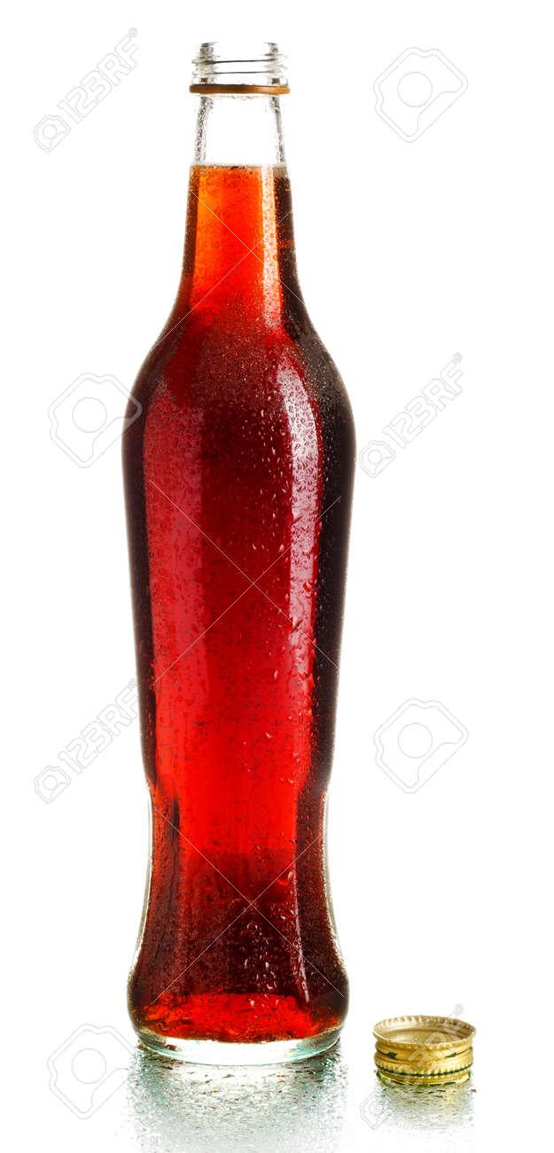 single cola bottle isolated on white background Stock Photo - 9568655