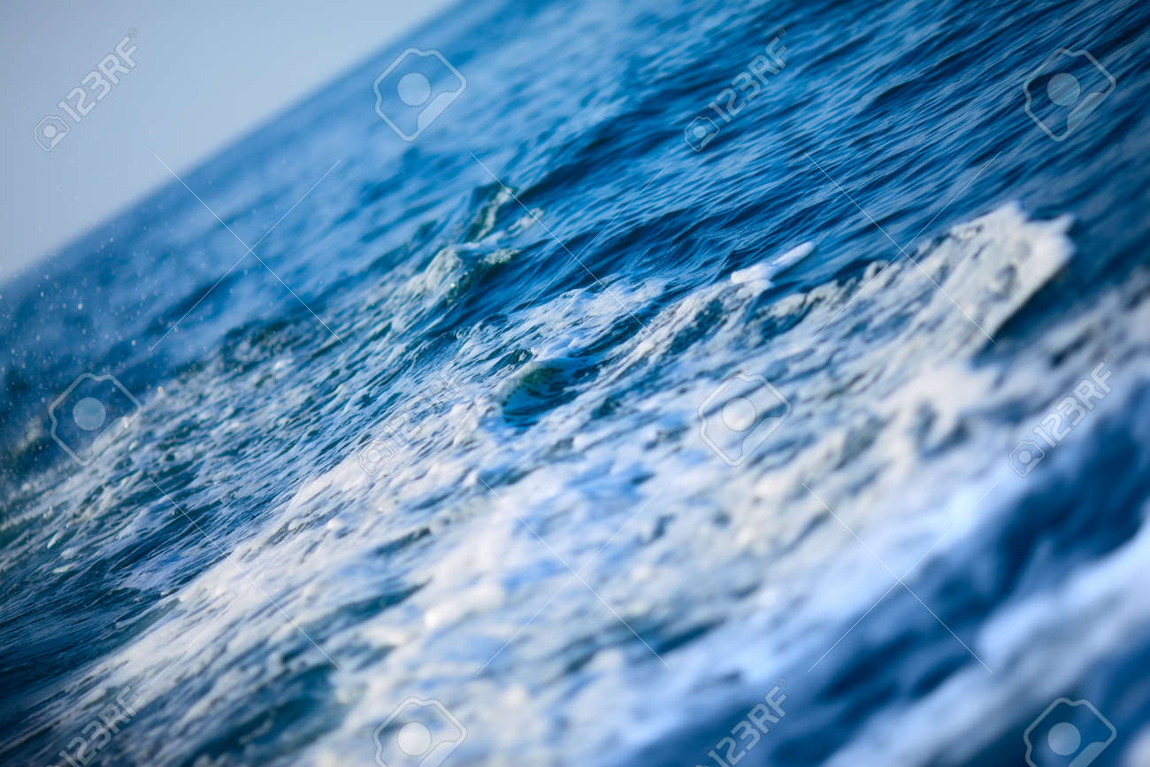 Blue Ocean Wave Background, Andaman Sea, Thailand Stock Photo ...