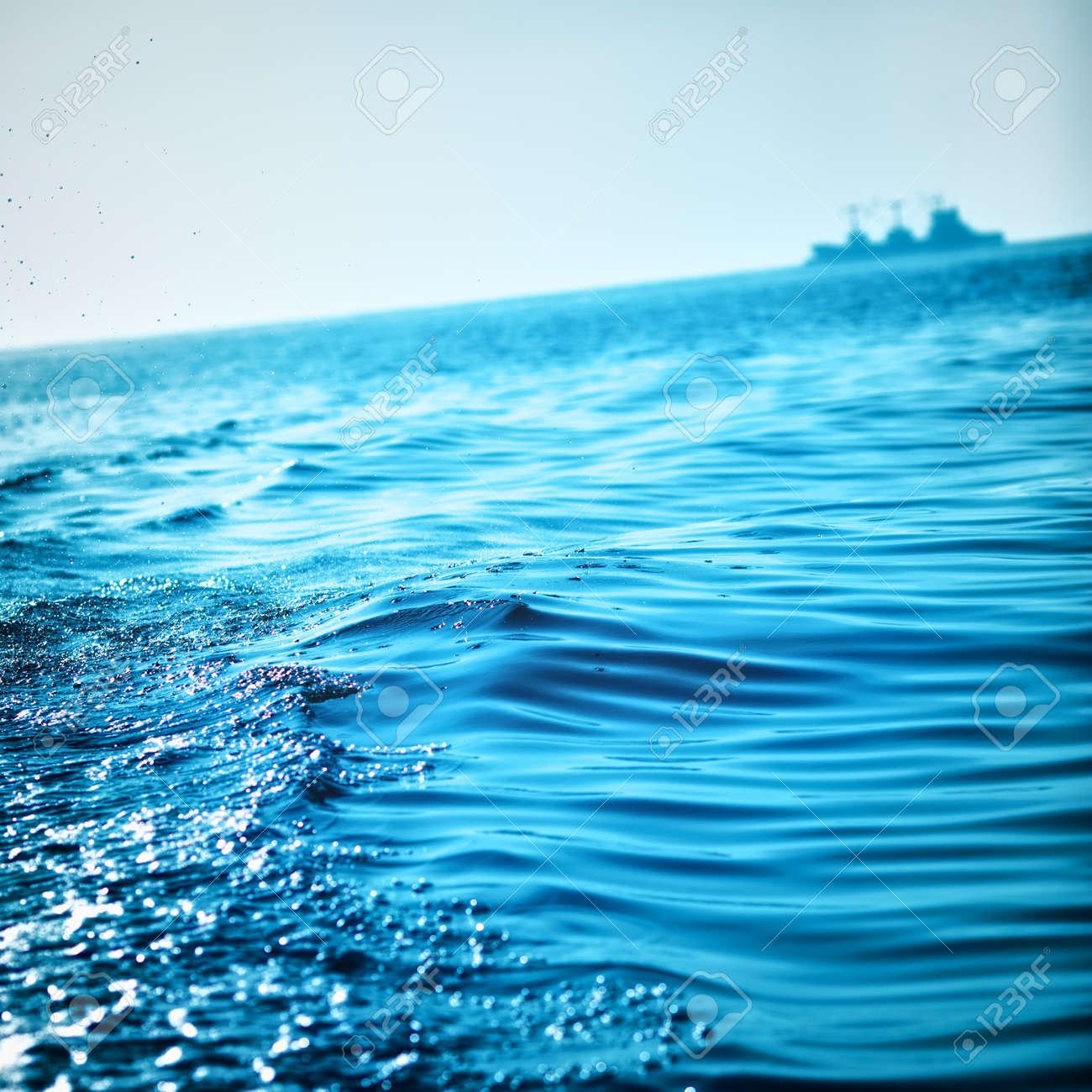 blue ocean waves background andaman sea thailand stock photo