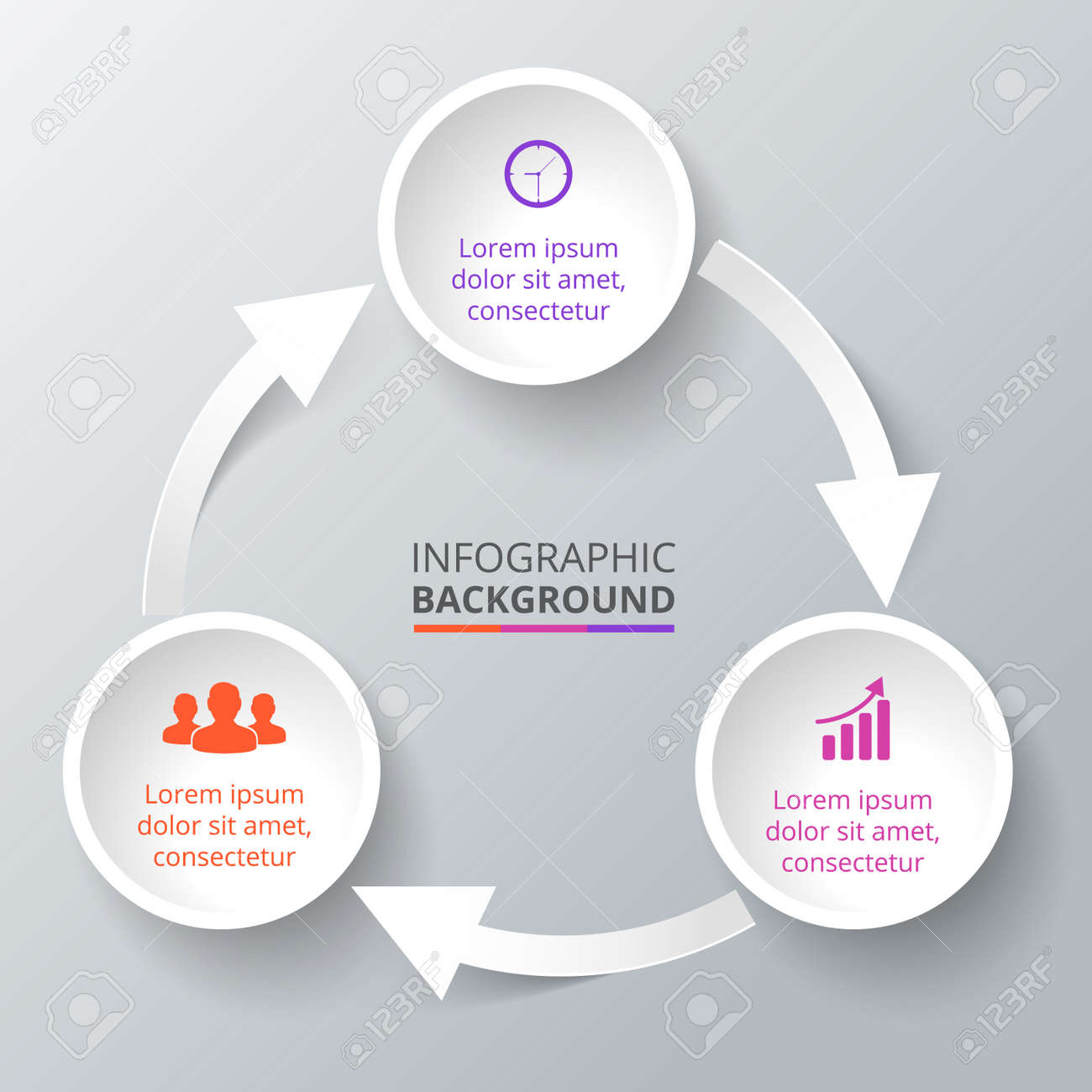 Process cycling arrow by arrow royalty free stock images image - Vector Vector Circle Element With Arrows For Infographic Template For Cycle Diagram Graph Presentation Business Concept With 3 Options Parts Steps