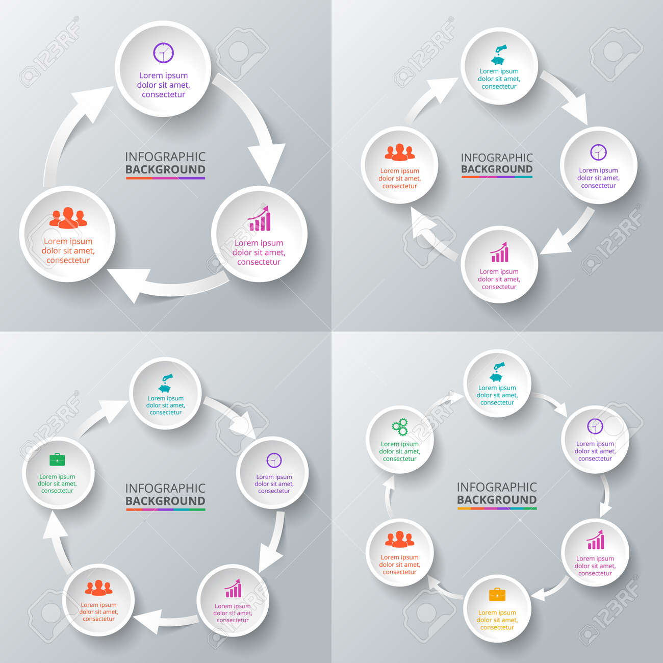 Process cycling arrow by arrow royalty free stock images image - Vector Vector Circle Arrows For Infographic Template For Cycle Diagram Graph Presentation And Round Chart Business Concept With 3 4 5 And 6 Options