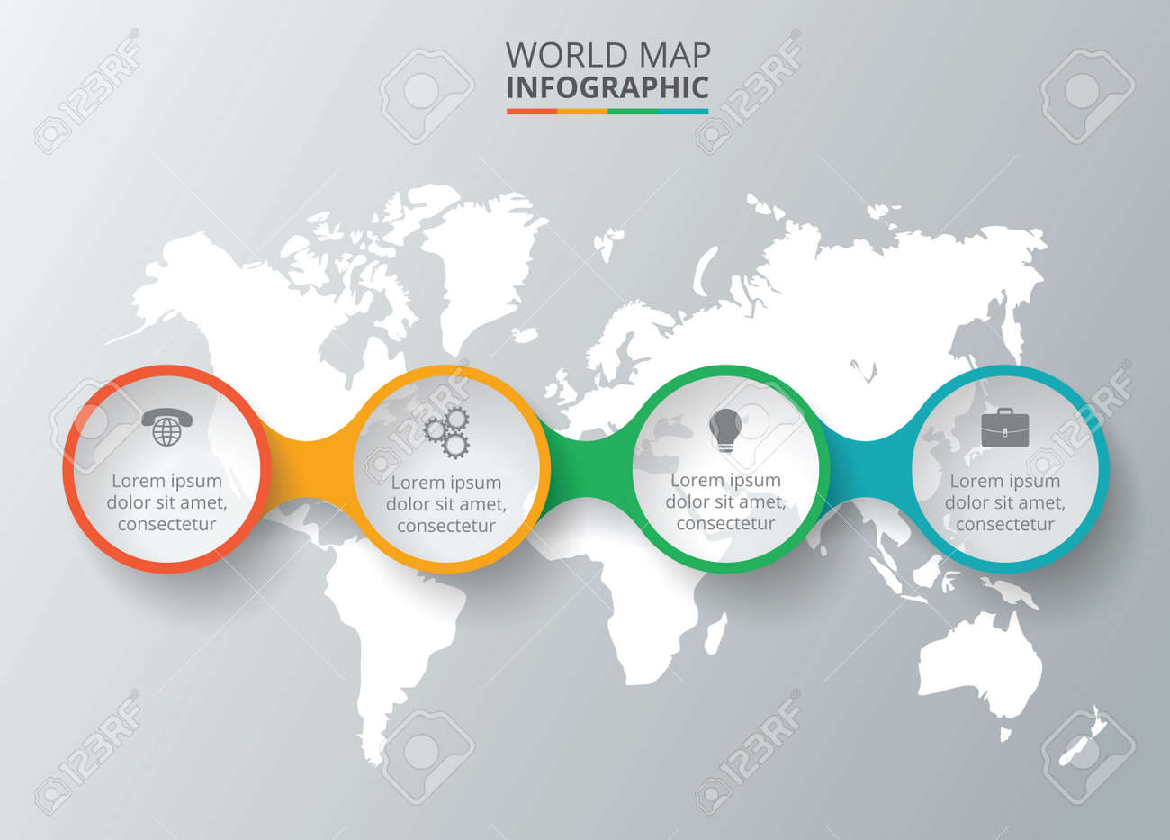 Vector world map with infographic elements template for diagram vector world map with infographic elements template for diagram graph presentation business gumiabroncs Images