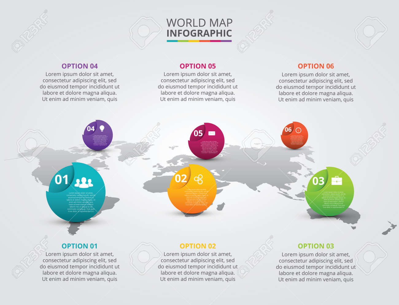 Vector world map with infographic elements template for diagram vector world map with infographic elements template for diagram graph presentation business gumiabroncs Image collections