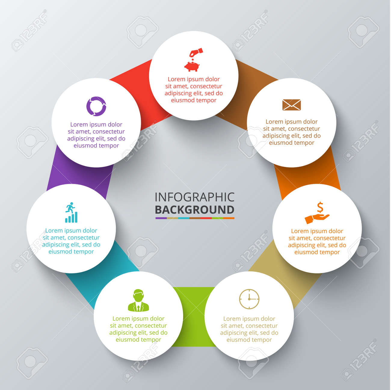 Vector heptagon with circles elements for infographic template vector vector heptagon with circles elements for infographic template for cycling diagram graph presentation business concept with 7 options parts ccuart Images