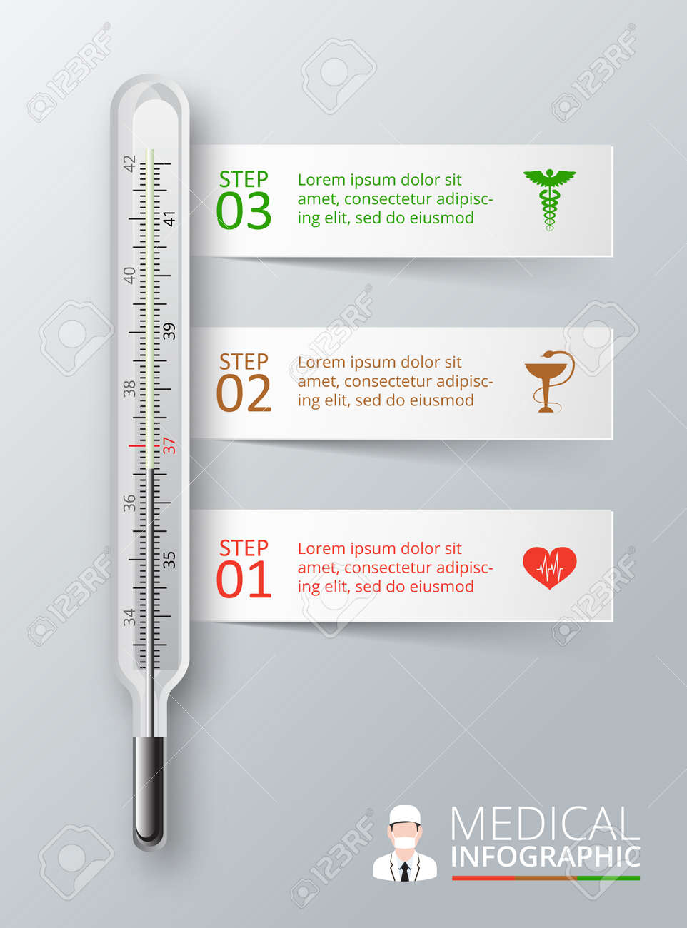 Vector thermometer for infographics template for diagram graph vector thermometer for infographics template for diagram graph presentation and chart medical ccuart Image collections