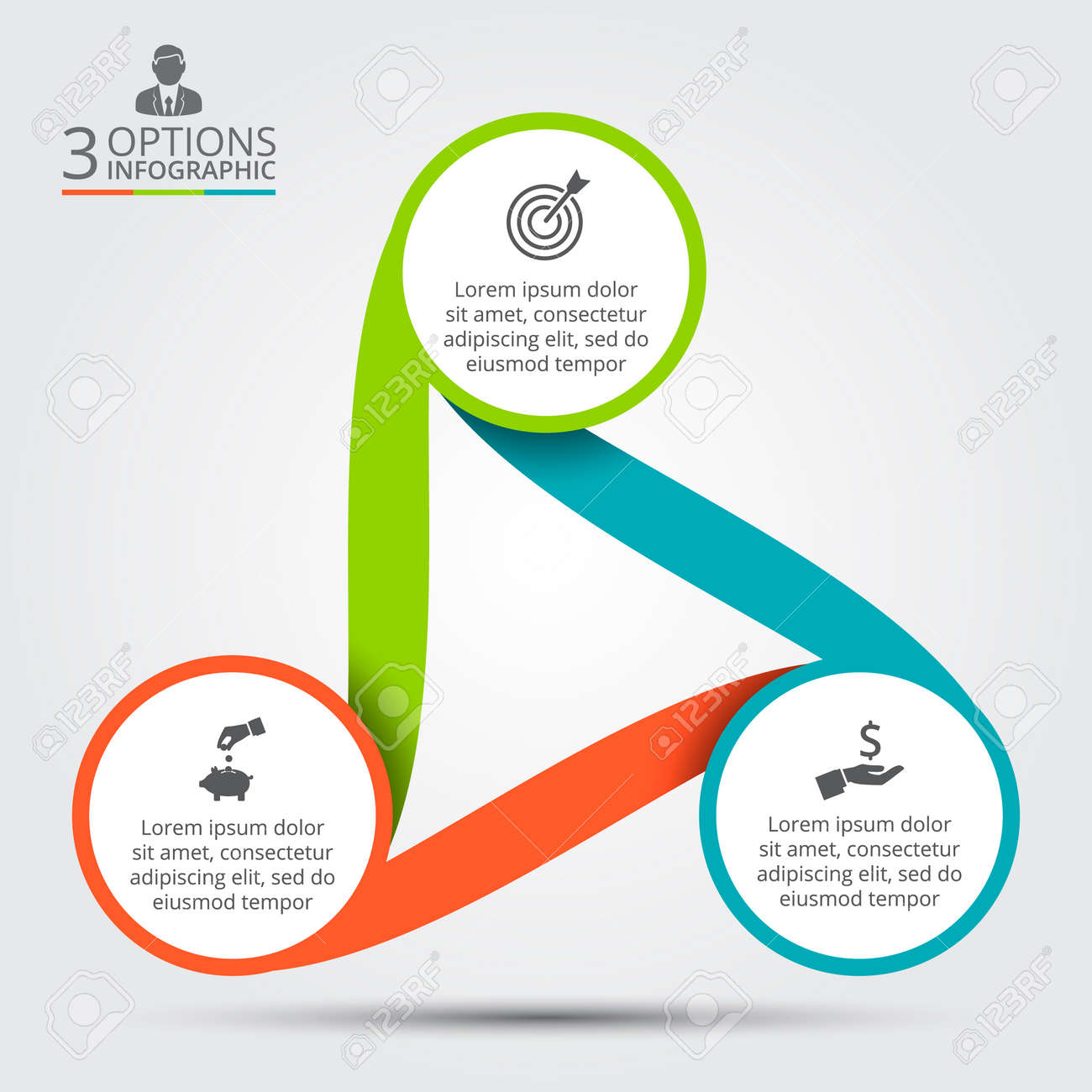 Vector circle infographic template for cycle diagram graph vector circle infographic template for cycle diagram graph presentation and round chart ccuart Choice Image