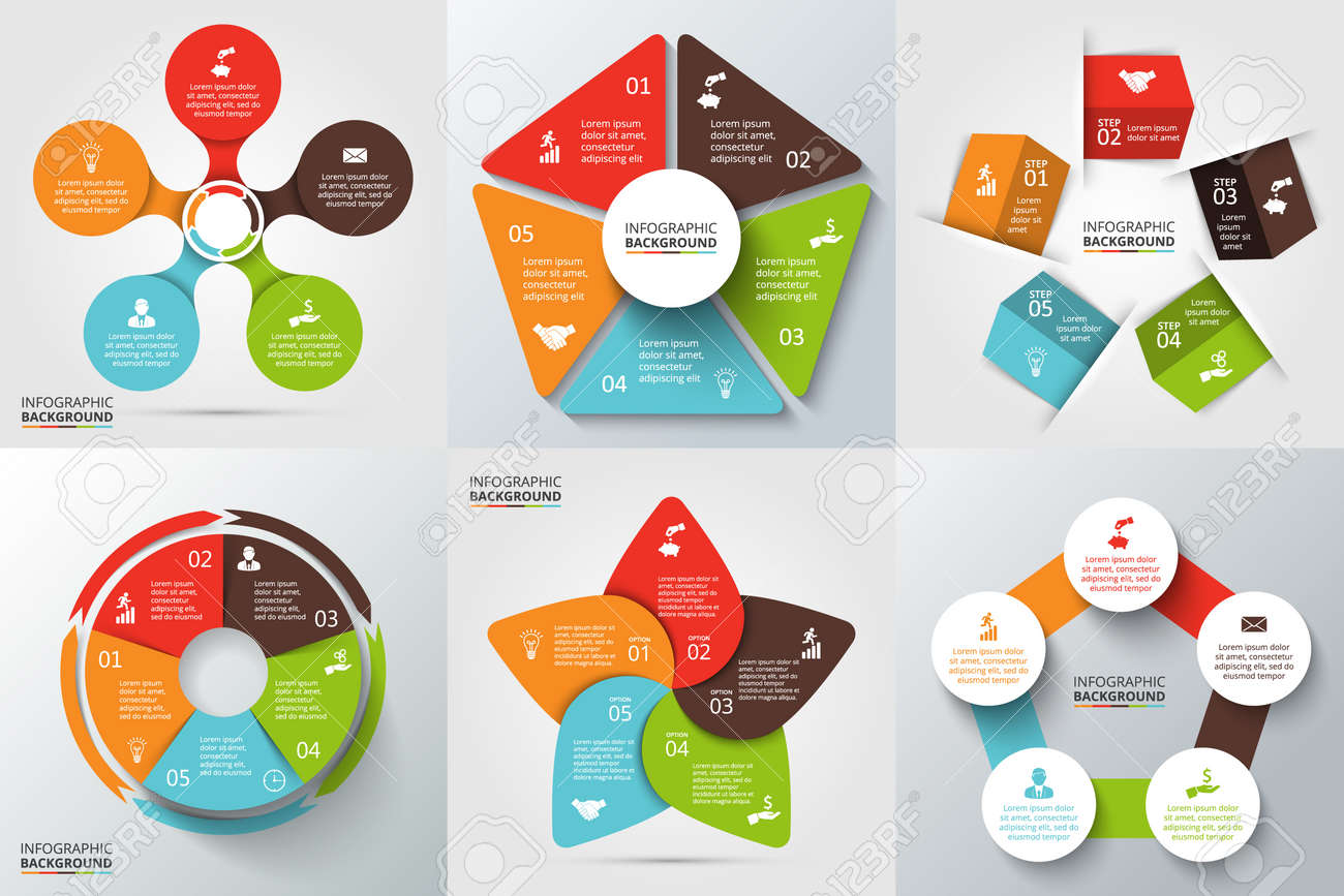 Process cycling arrow by arrow royalty free stock images image - Vector Arrows Pentagon Circles And Other Elements For Infographic Template For Cycle Diagram