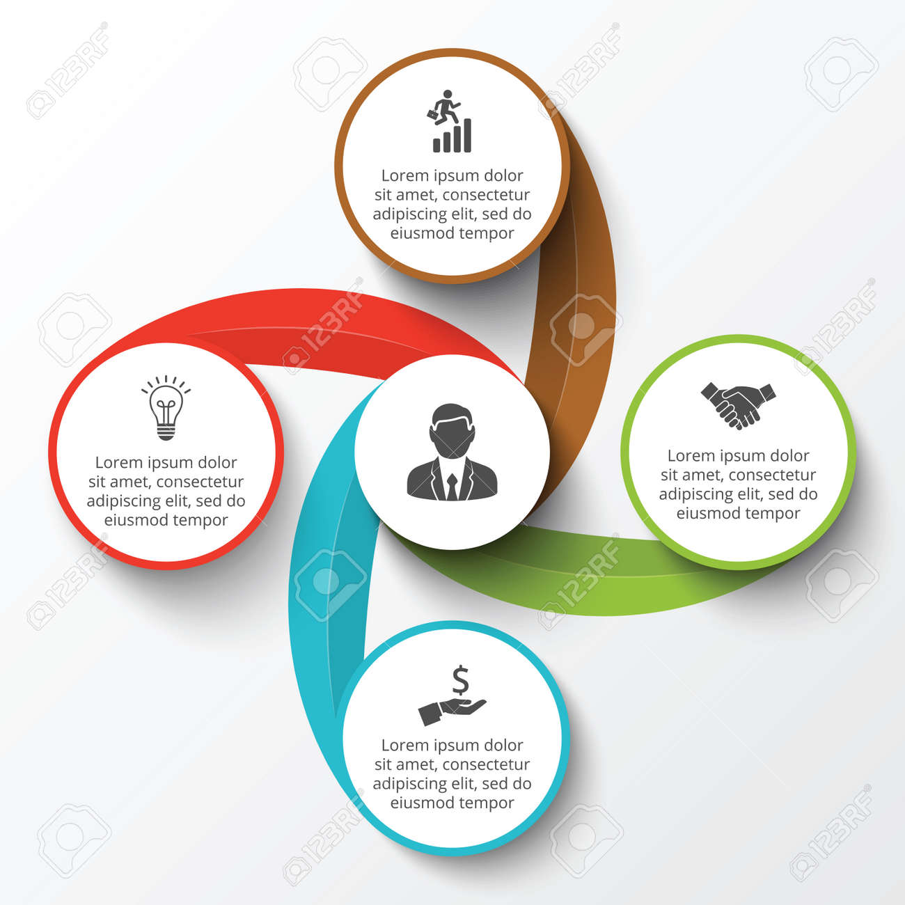 Circle infographic template for cycle diagram graph presentation banco de imagens circle infographic template for cycle diagram graph presentation and round chart business concept with 4 options parts ccuart Choice Image