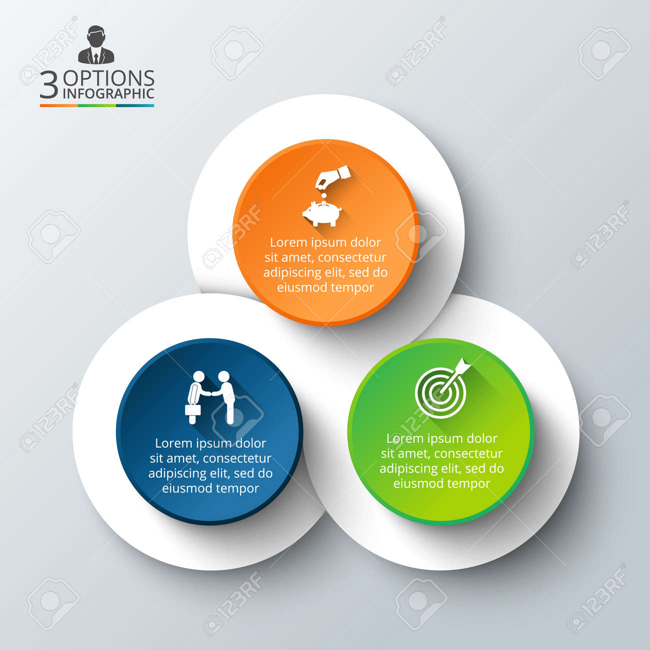Vector infographic design template business concept with 3 options vector vector infographic design template business concept with 3 options parts steps or processes can be used for workflow layout diagram cheaphphosting Images