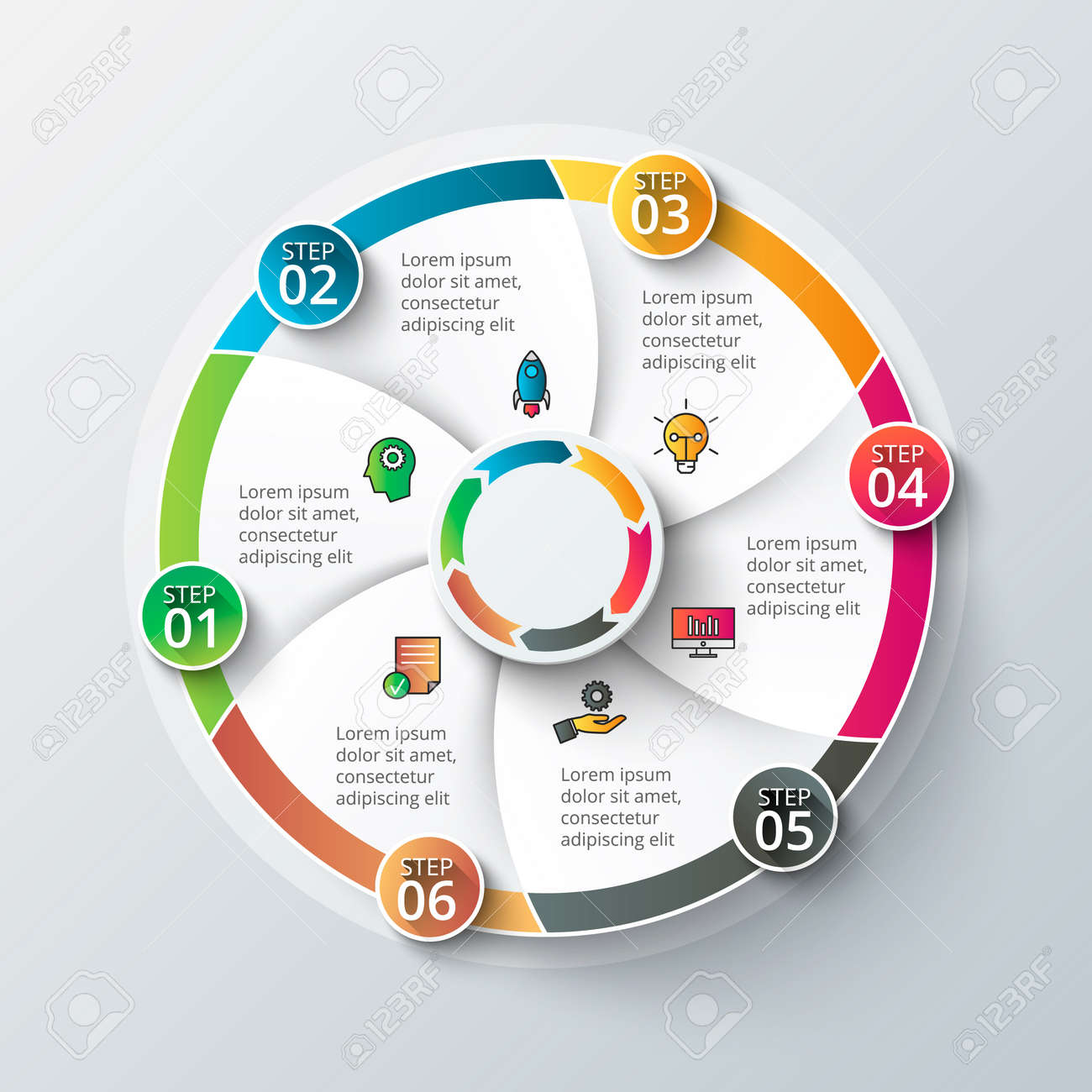 Vector infographic design template business concept with 6 options vector vector infographic design template business concept with 6 options parts steps or processes can be used for workflow layout diagram cheaphphosting Images