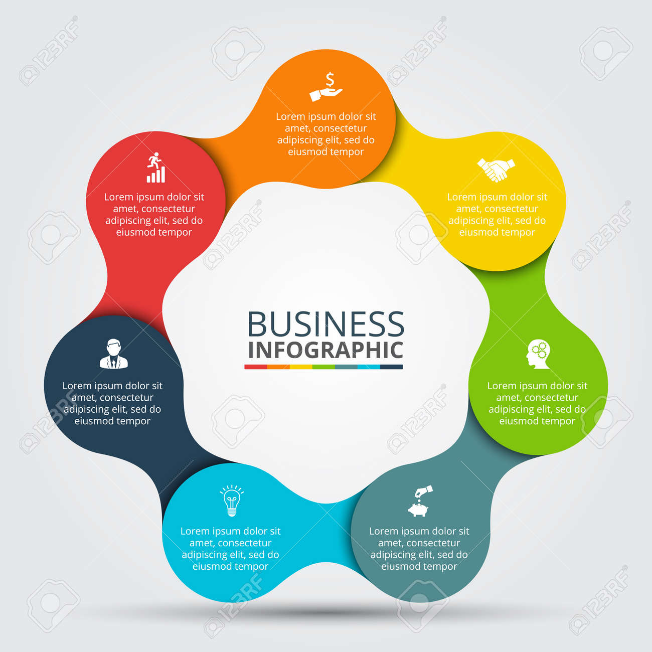 Circle infographic template for cycle diagram graph presentation template for cycle diagram graph presentation and round chart business accmission Images