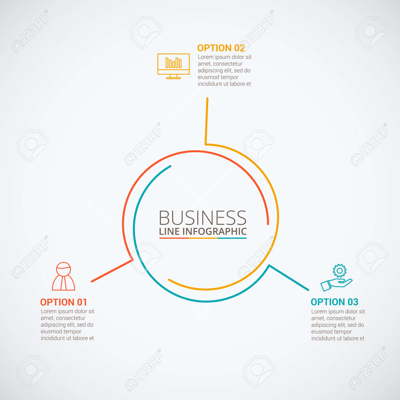 Thin line flat circle for infographic template for cycle diagram thin line flat circle for infographic template for cycle diagram graph presentation and ccuart Images