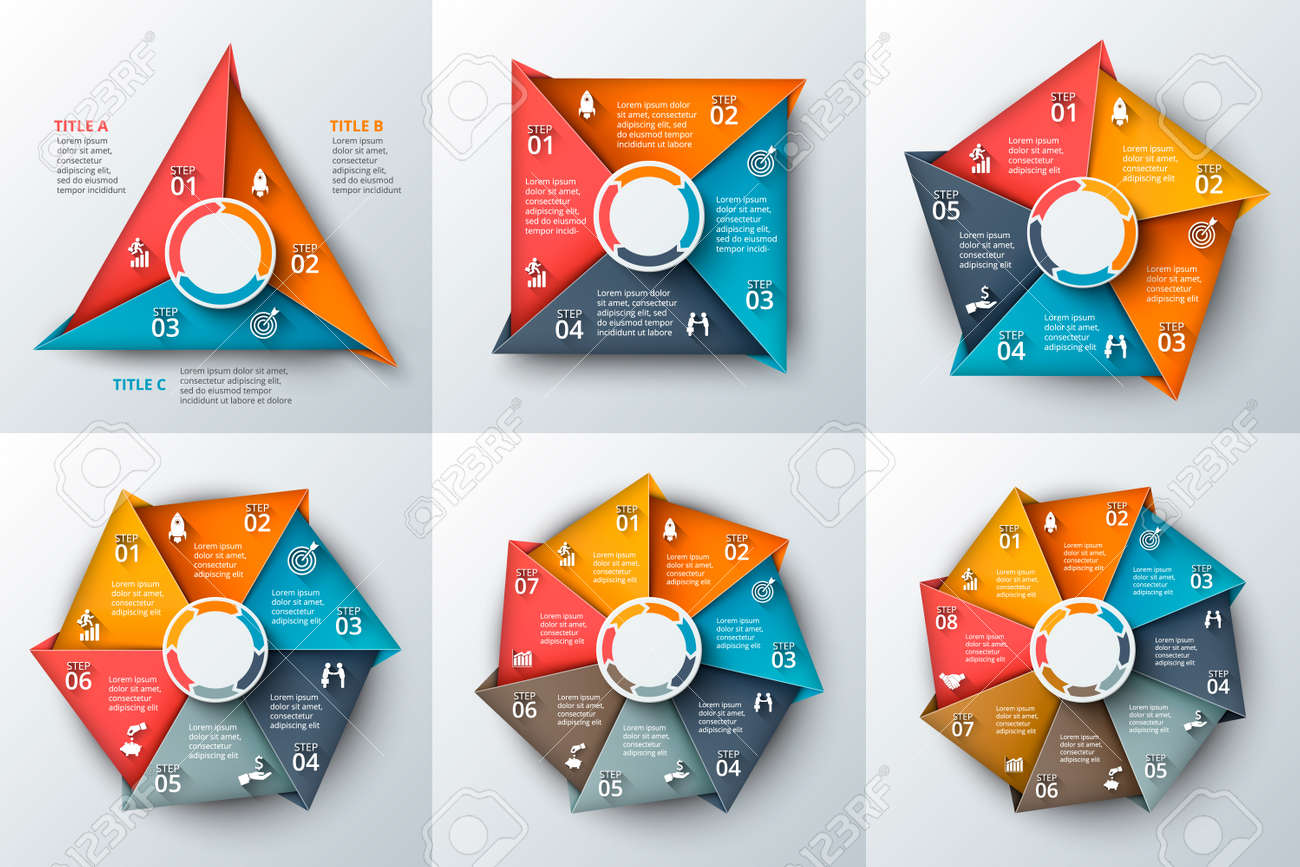 Set of geometric shapes for infographic template for cycle diagram set of geometric shapes for infographic template for cycle diagram graph presentation and ccuart Gallery