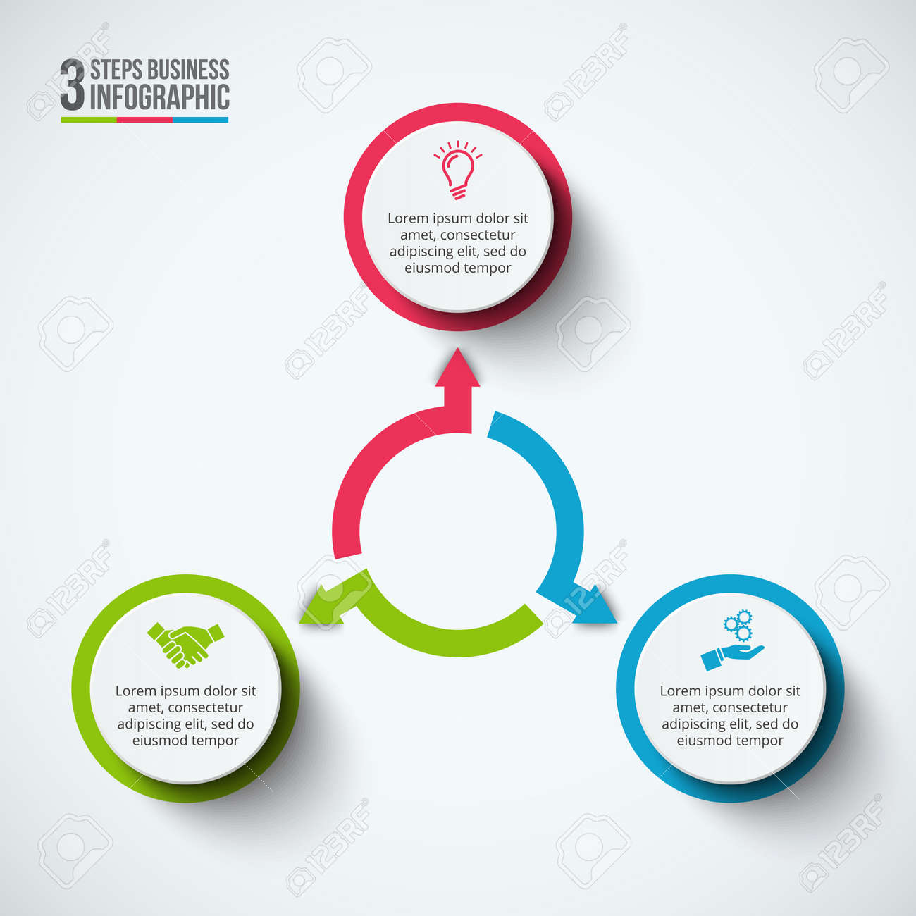 infographic design template business concept with 3 options