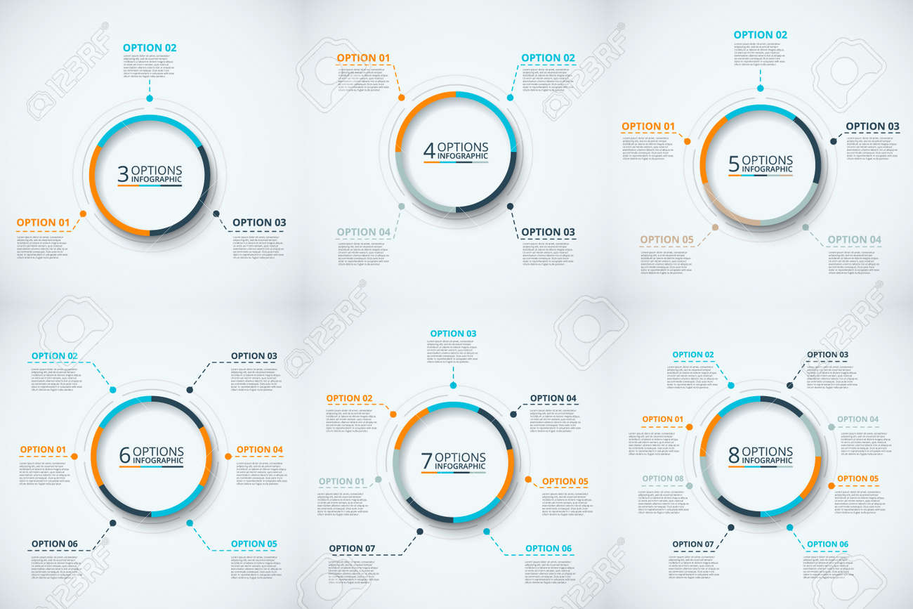 Vector circle infographic template for cycle diagram graph banco de imagens vector circle infographic template for cycle diagram graph presentation and round chart business concept with 3 4 5 6 7 and 8 ccuart Image collections