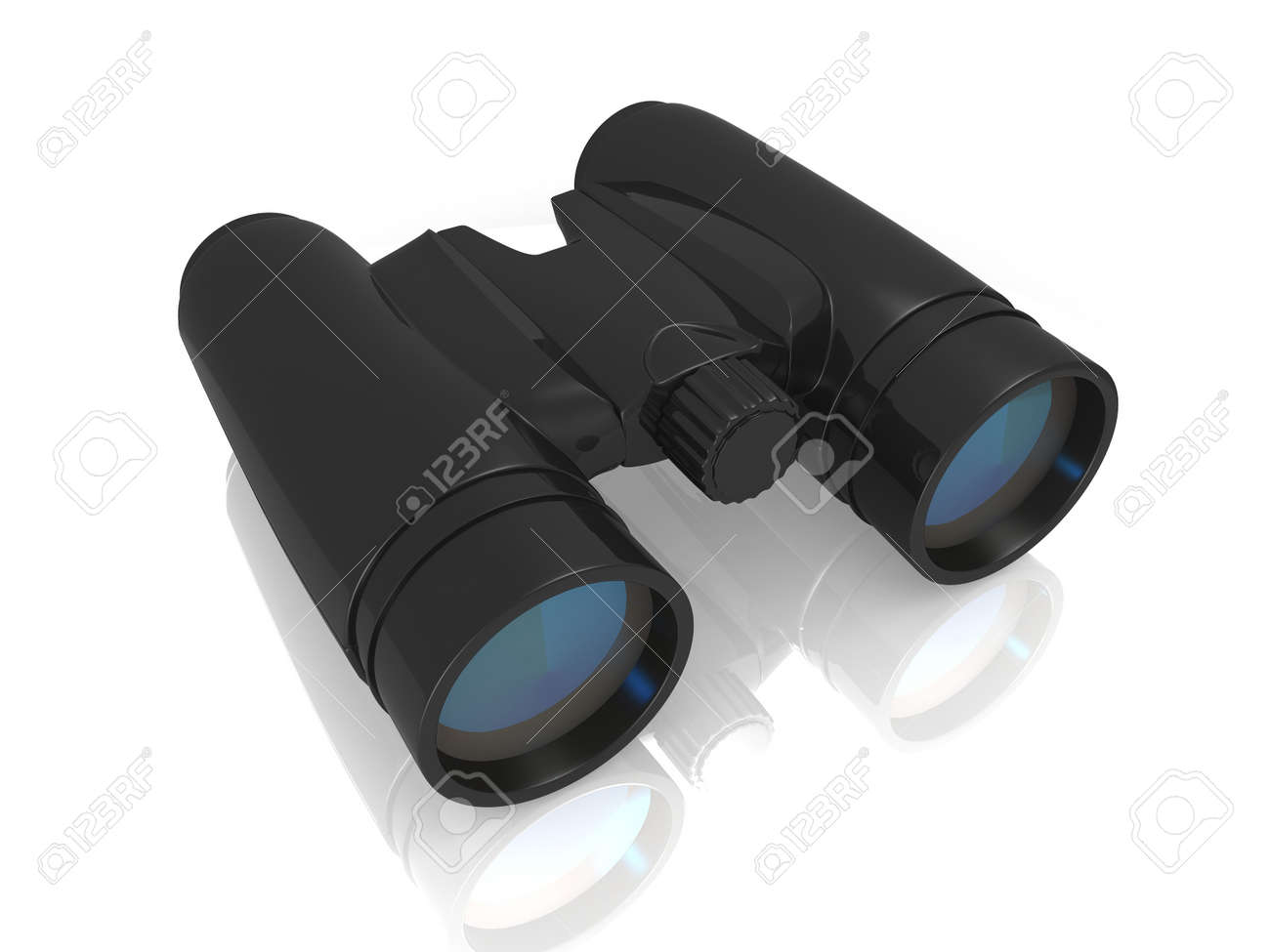 Binoculars and blue sky, concept of Searching Freedom Stock Photo - 16946889