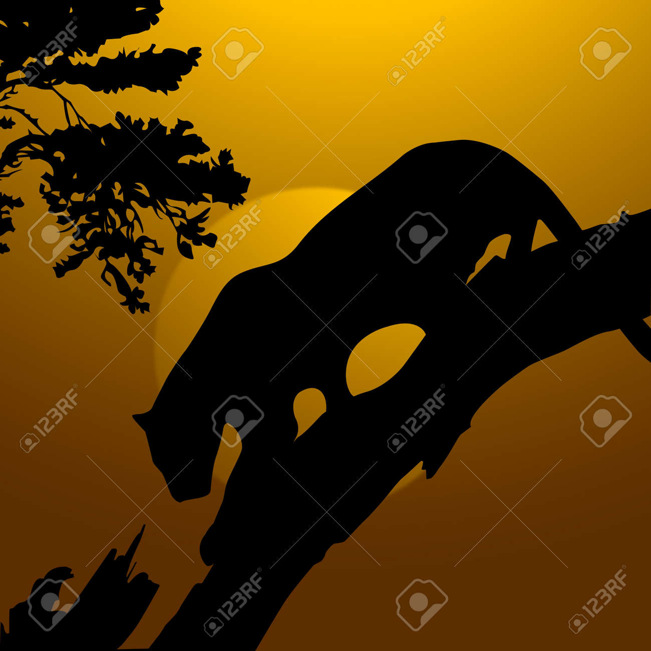 Wildlife Stock Photos Stock Photo silhouette view