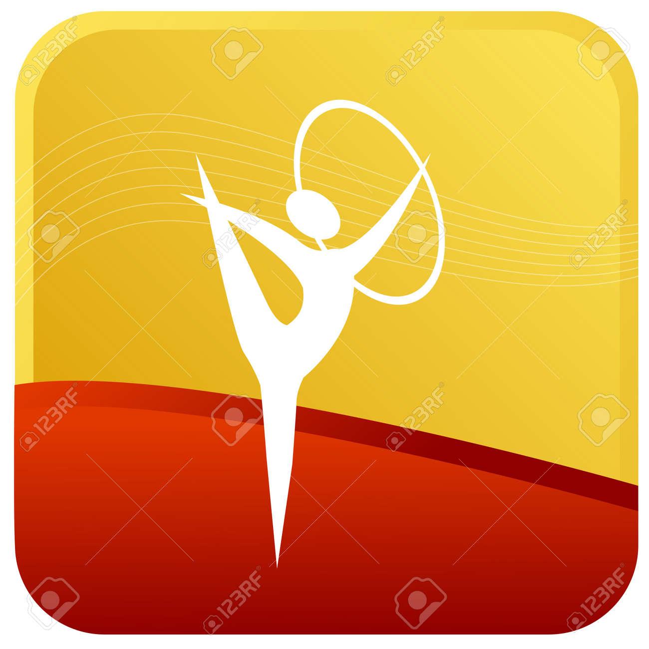 human doing gymnastics with ring Stock Vector - 7596828