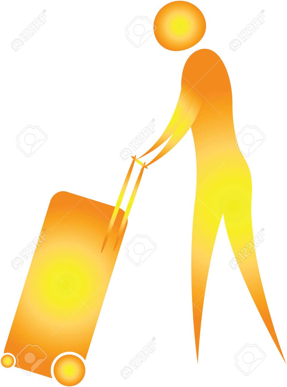 human pushing luggage trolley Stock Photo - 7596973