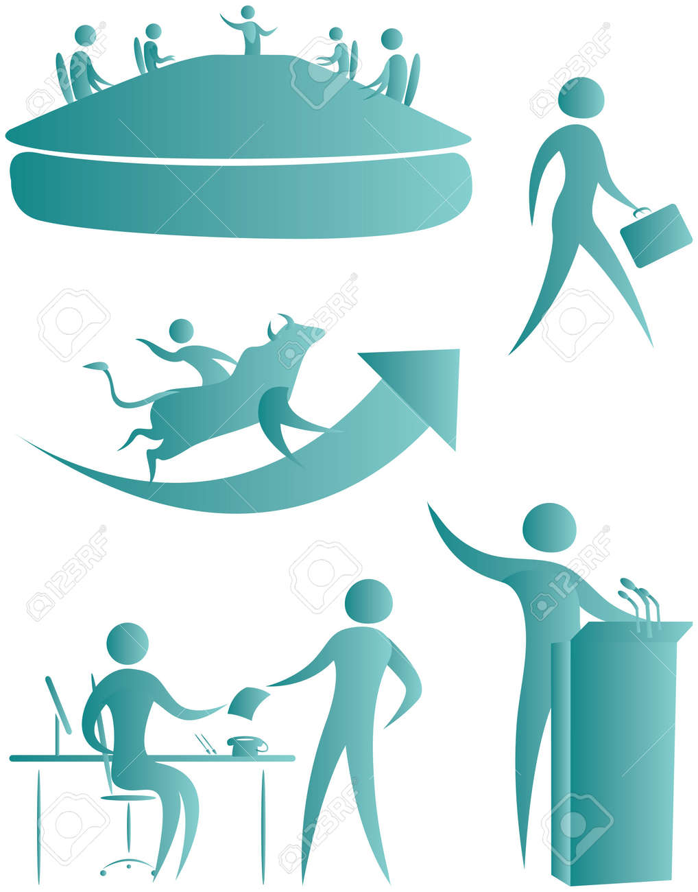 collection of human motifs in action Stock Photo - 7597125