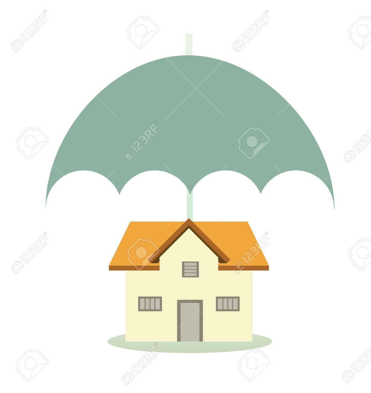 House sheltering with an insurance umbrella Stock Photo - 7860961