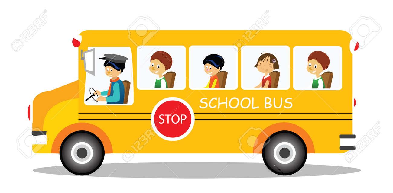School bus on its way Stock Photo - 9688397