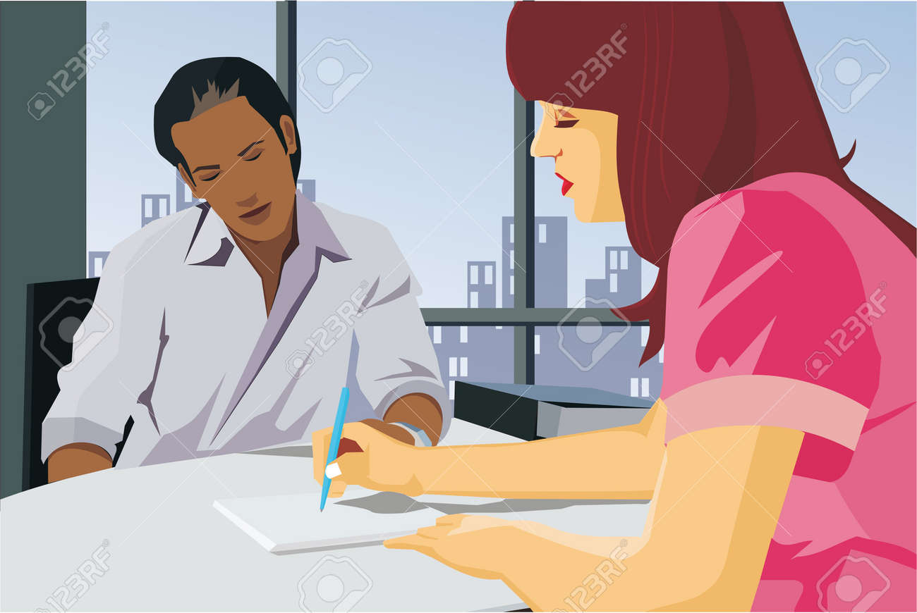 Business people working together in office Stock Photo - 9688725