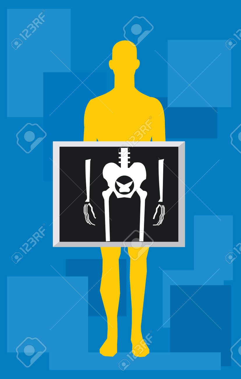 Front view of human torso showing liver Stock Photo - 9688473