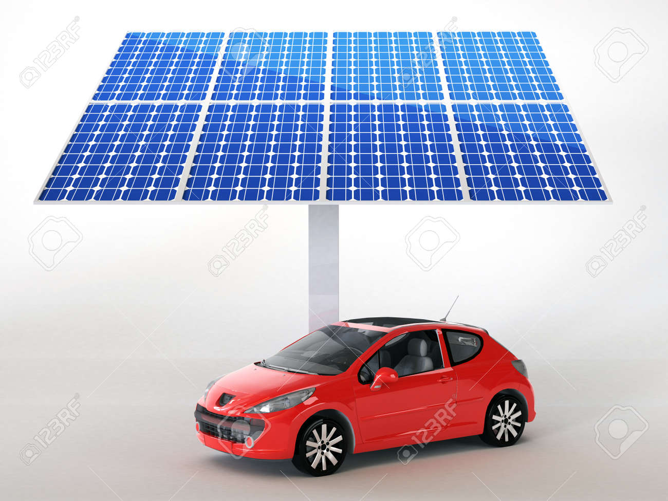 solar panel for cars Stock Photo - 16774104