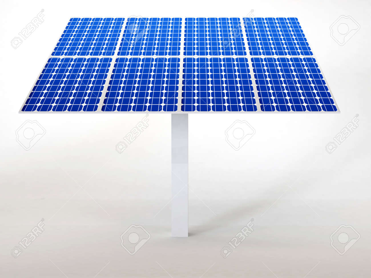 solar panel isolated in white Stock Photo - 16774096