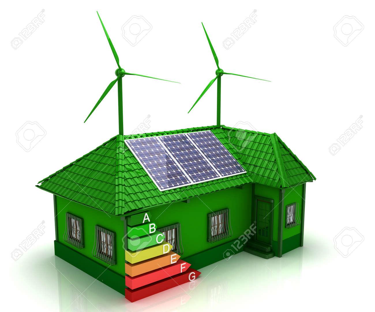Superb House Energy Saving Concept Stock Photo   16774085