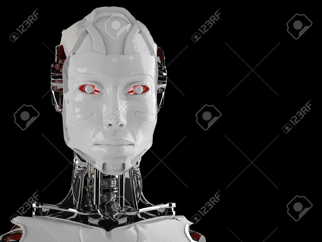 robot android women Stock Photo - 16774153