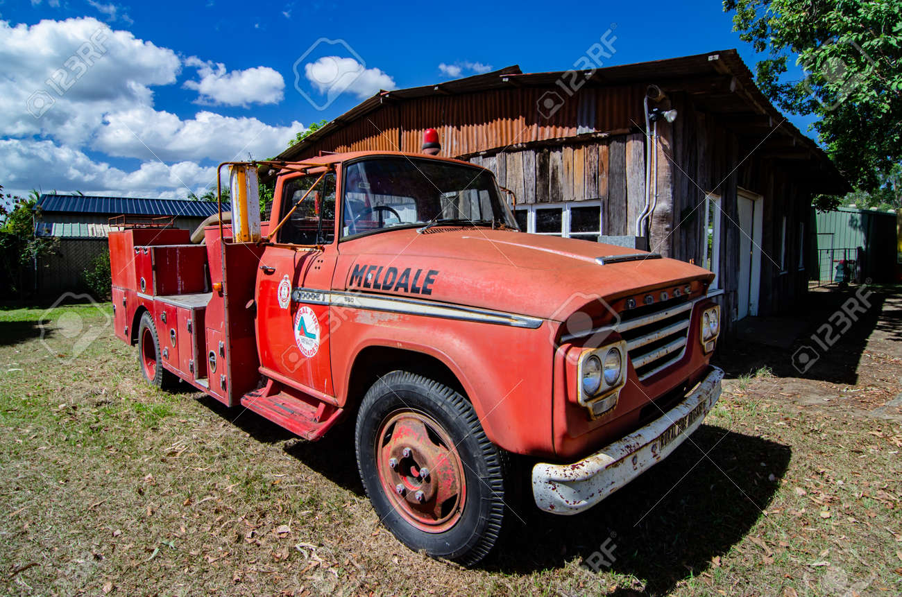 Old Dodge Trucks >> An Old Dodge Truck Used As A Fire Truck For The Rural Fire Brigade