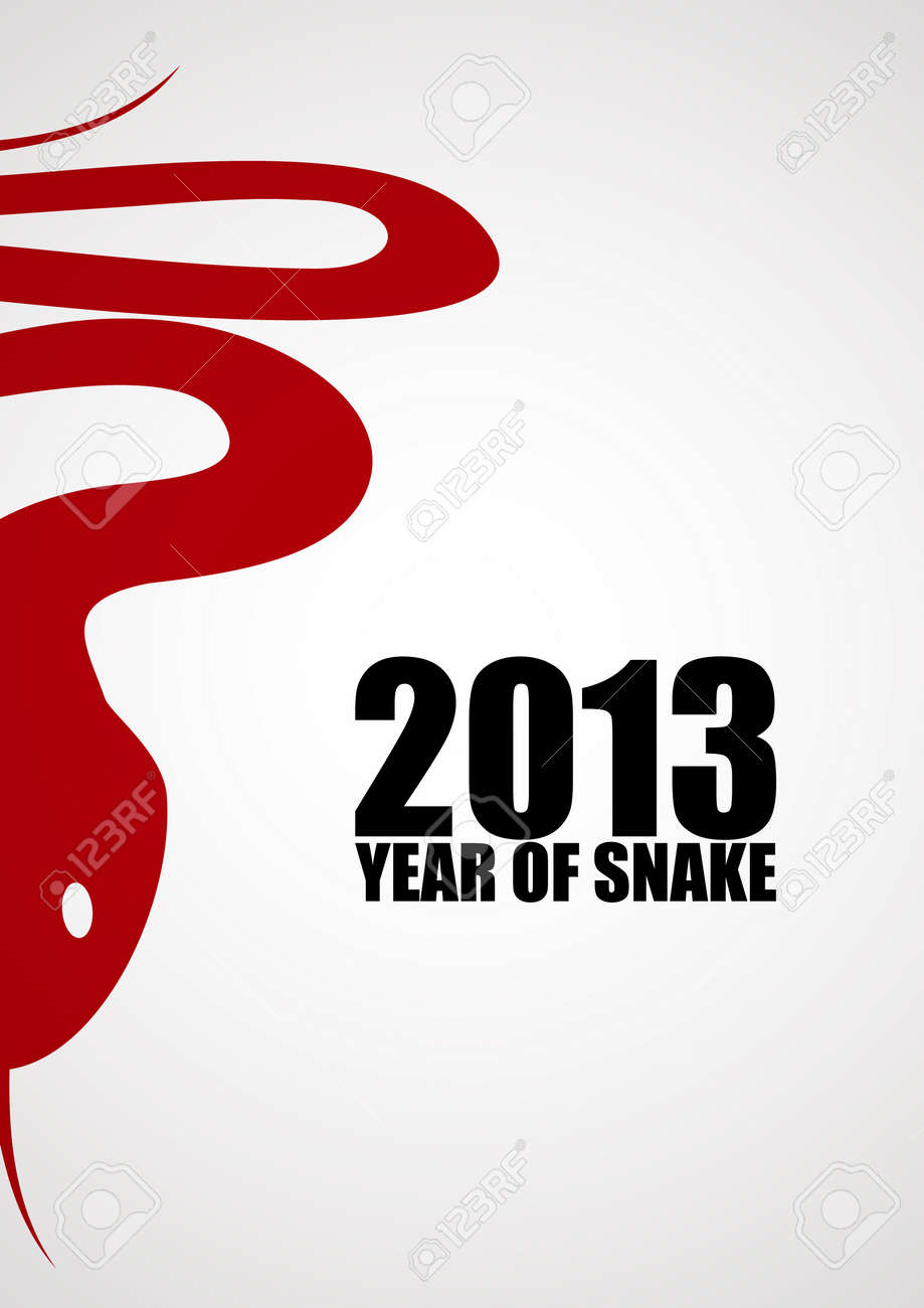 New year background with a stylized snake Stock Vector - 15527125