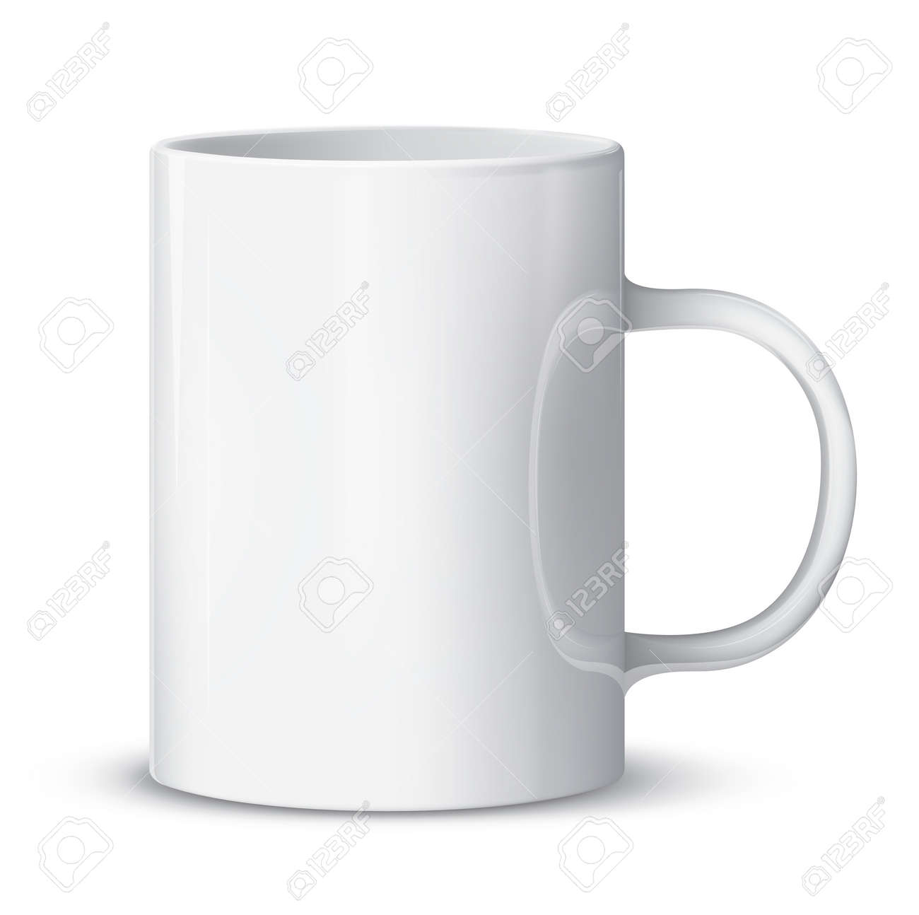 Realistic white cup isolated on white. Stock Vector - 15586073