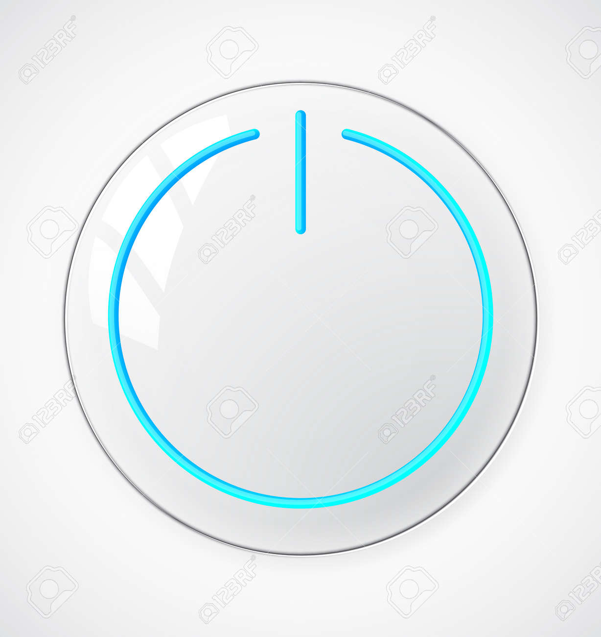 Start or power button. EPS10 vector. Stock Vector - 16169263