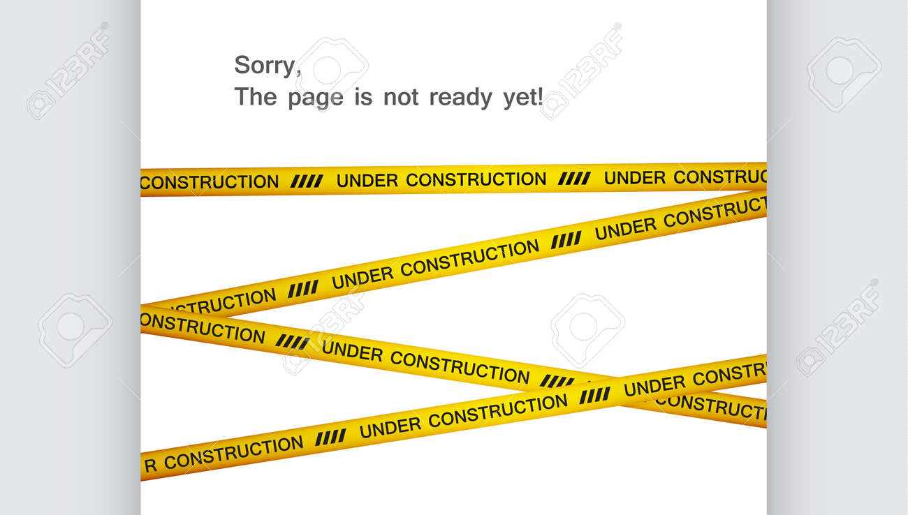 Under Construction Tape Background with under construction