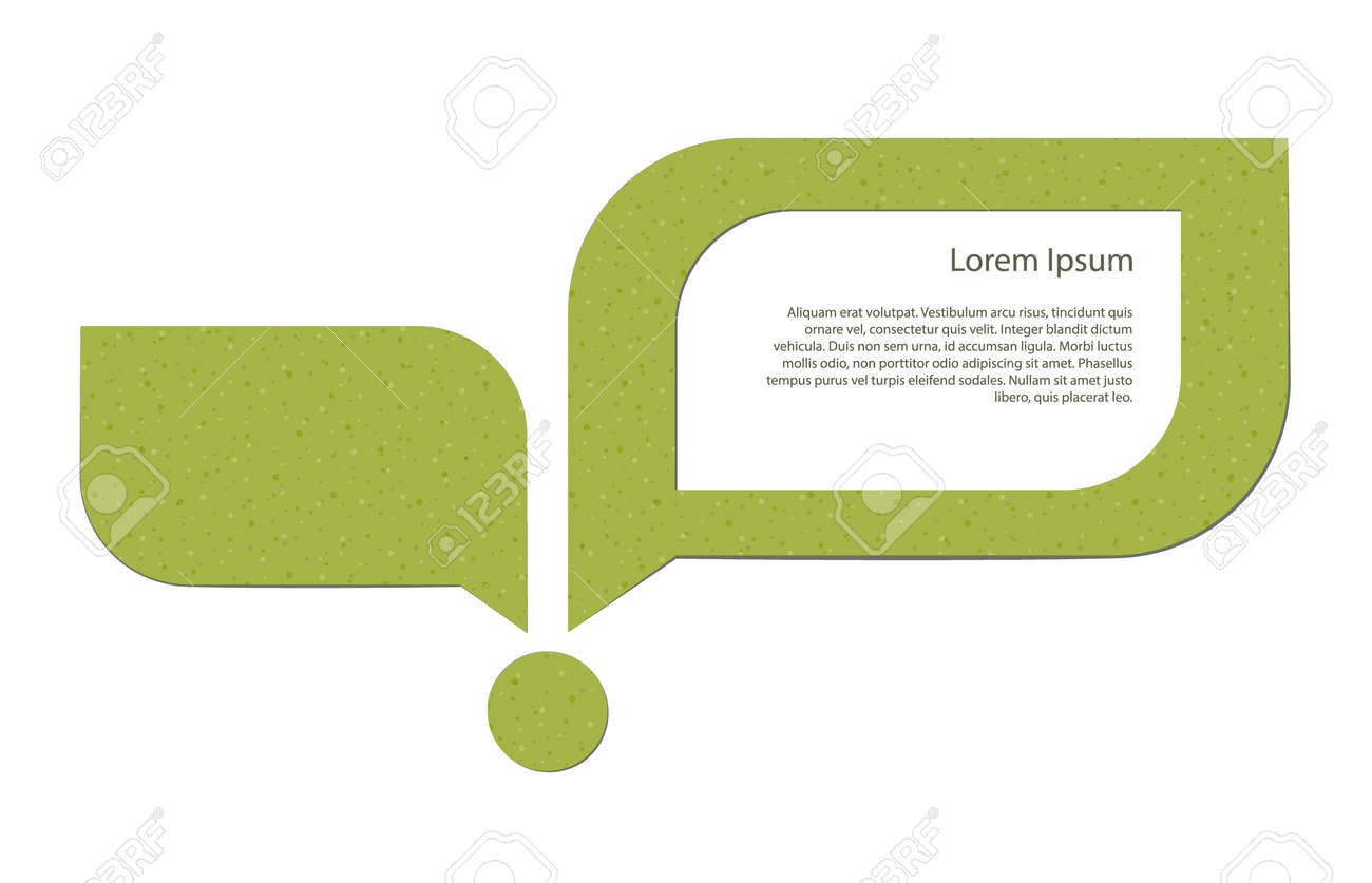 Abstract image of a young sprout and a speech bubble with a placeholder Stock Vector - 17628536