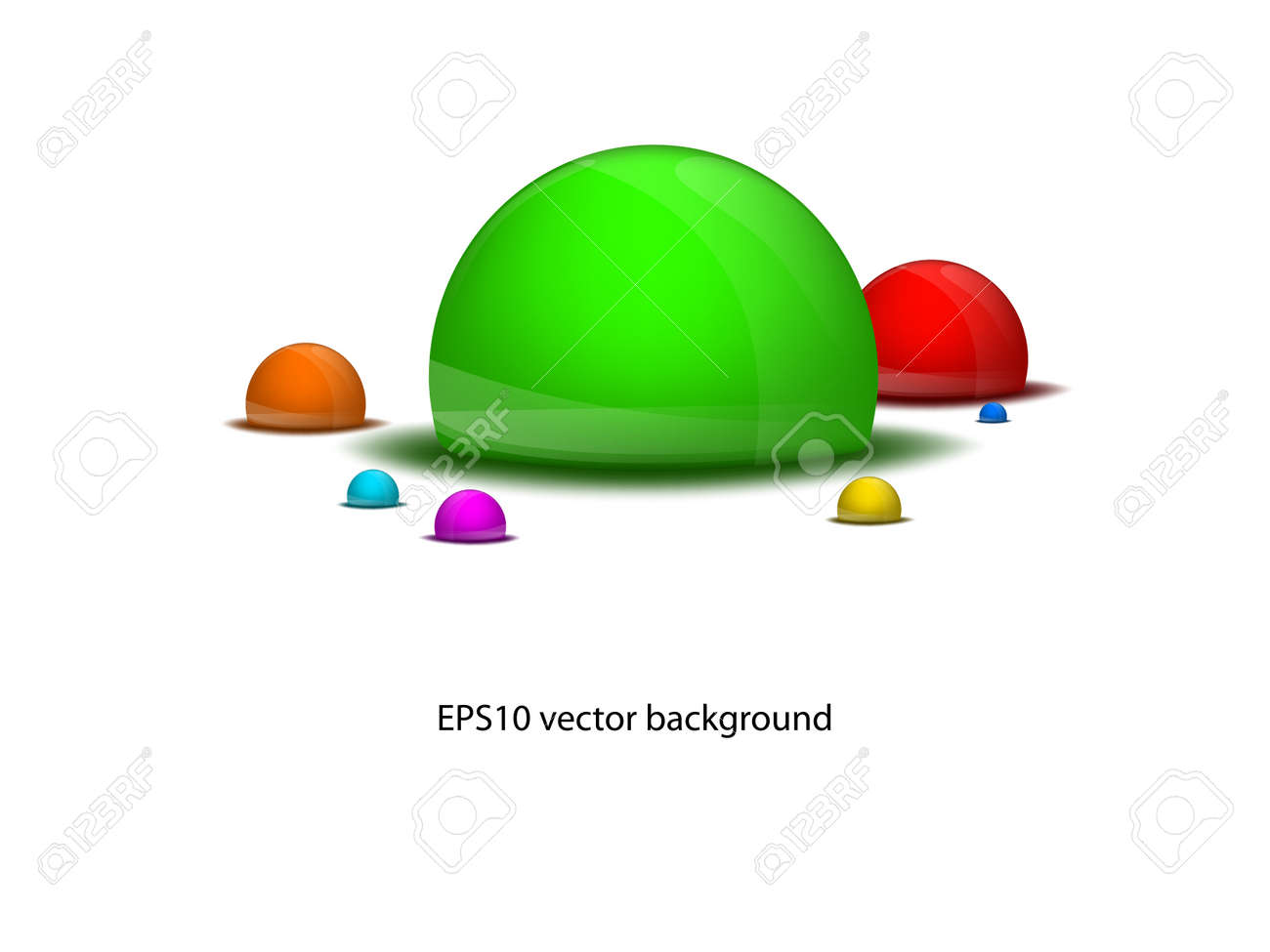 vector seven different colored drops background EPS10 Stock Vector - 23228526