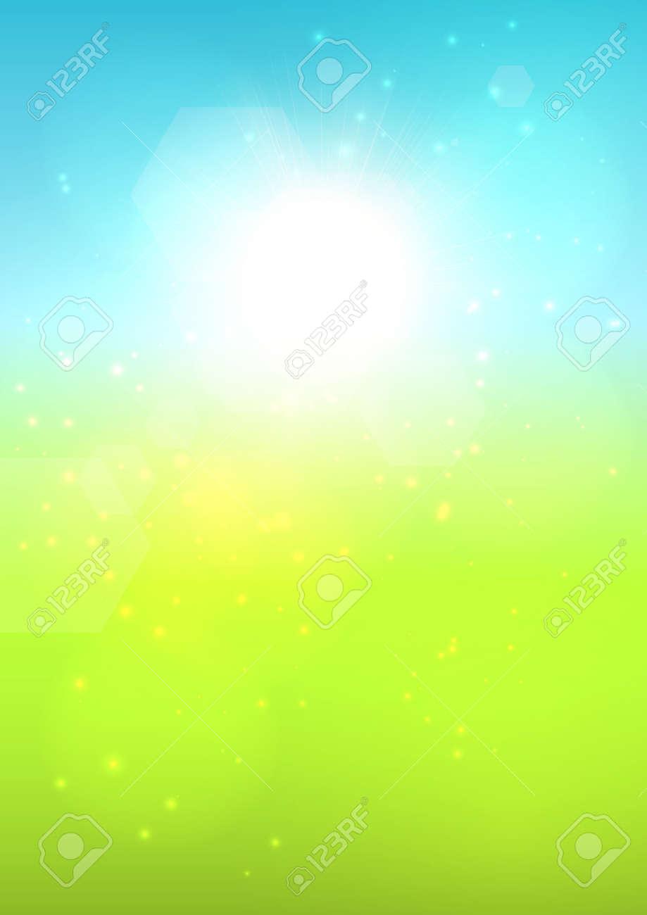 Blurred sunny summer bokeh background. EPS10 vector. Stock Vector - 23261983