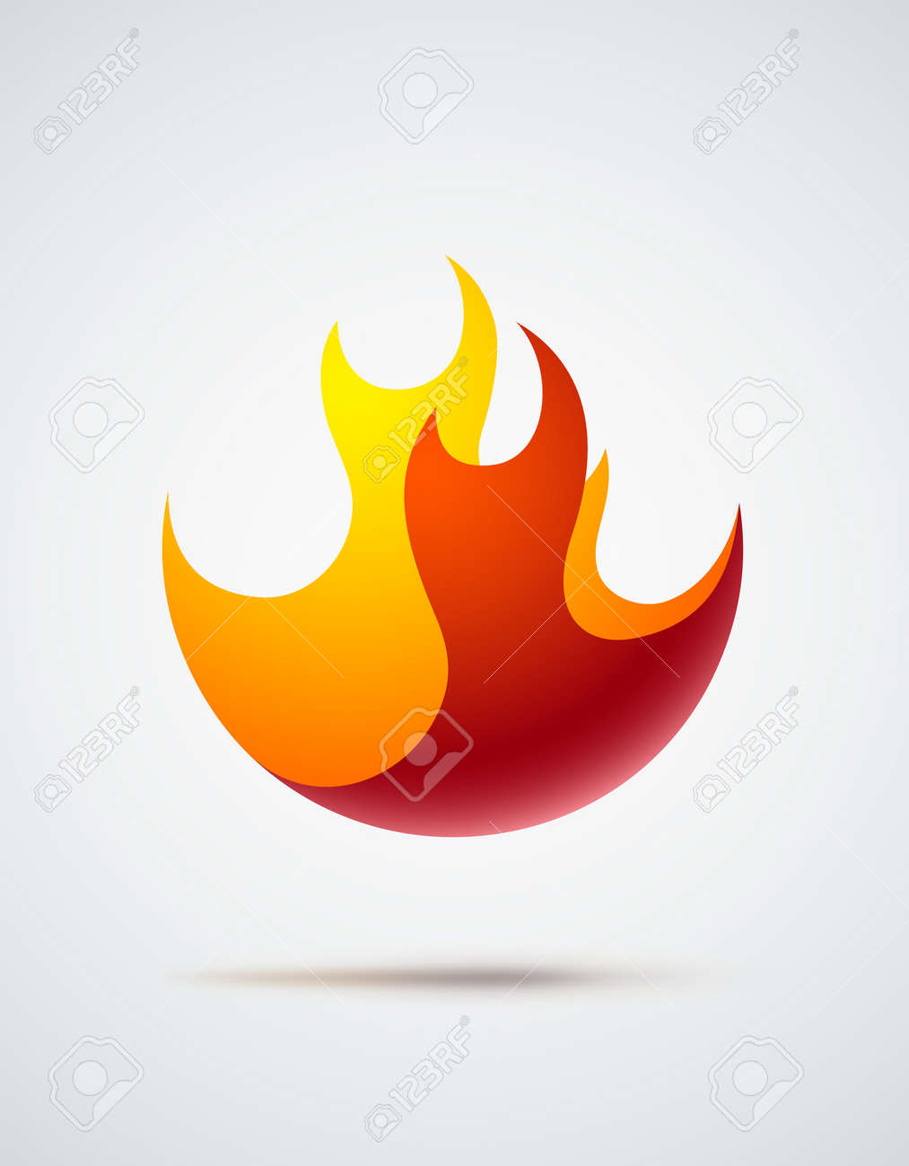 Abstract Symbol Of Fire Flames Eps10 Vector