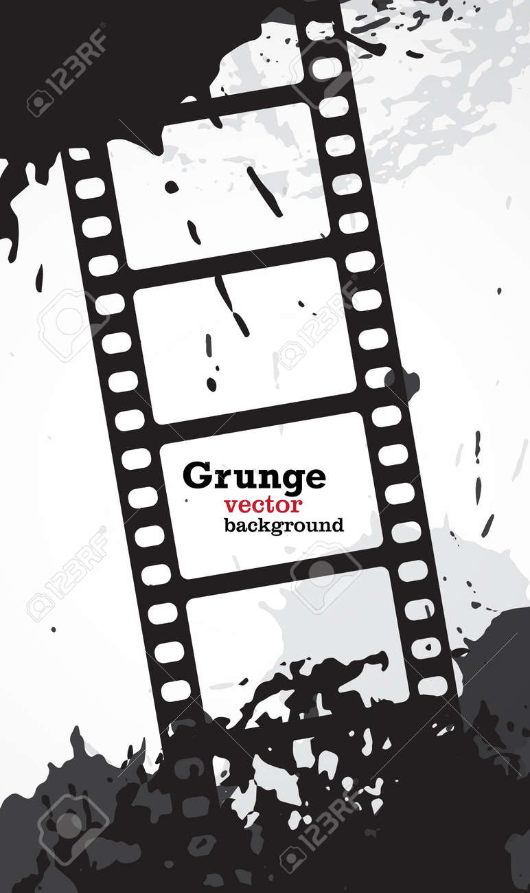 Grunge Vector Background With Copyspace In Movie Film Frames ...