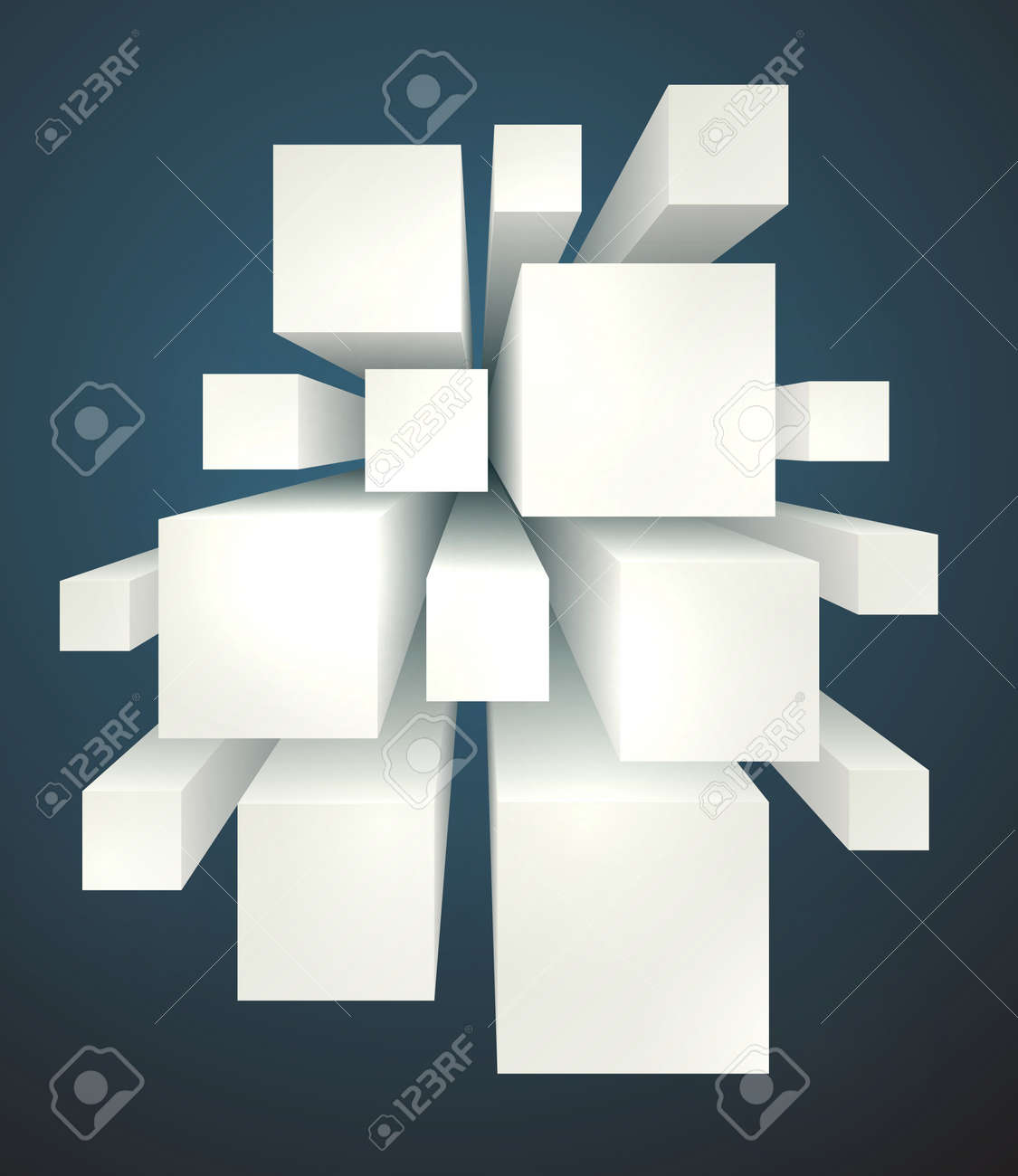 cool realistic geometric shapes background with blank copyspaces