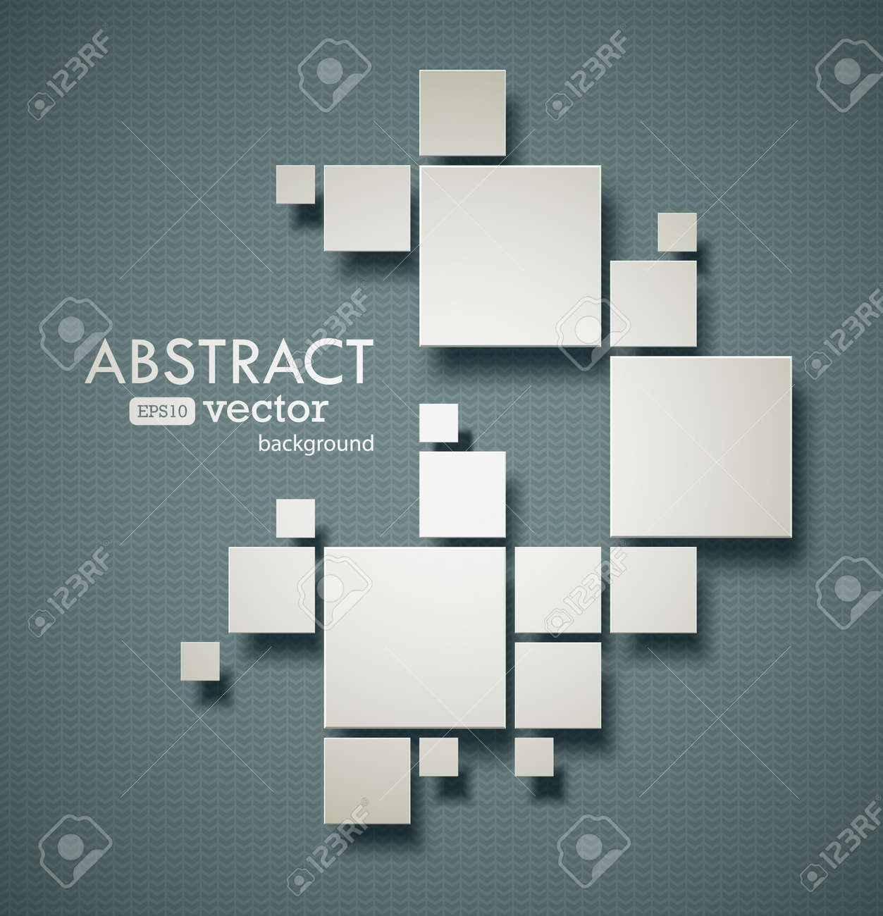 Abstract squares background with realistic shadows. EPS10 vector image. - 31806384